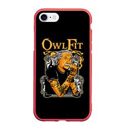 Чехол iPhone 7/8 матовый Owl Fit цвета 3D-красный — фото 1