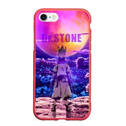 Чехол iPhone 7/8 матовый Доктор Стоун цвета 3D-красный — фото 1