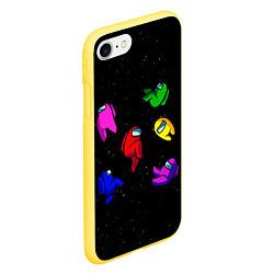 Чехол для iPhone 7/8 матовый с принтом Among Us, цвет: 3D-желтый, артикул: 10272464305885 — фото 2