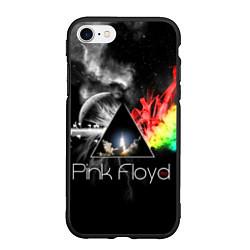 Чехол iPhone 7/8 матовый Pink Floyd цвета 3D-черный — фото 1