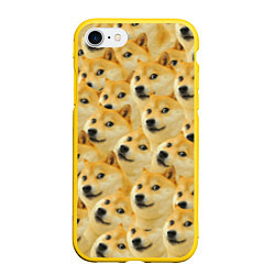 Чехол iPhone 7/8 матовый Doge цвета 3D-желтый — фото 1