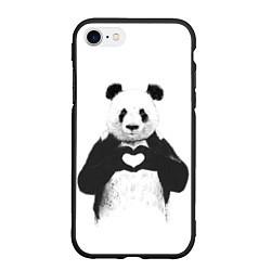 Чехол iPhone 7/8 матовый Panda Love