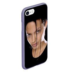 Чехол iPhone 7/8 матовый Tomb Rider цвета 3D-серый — фото 2