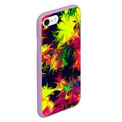 Чехол iPhone 7/8 матовый Кислотный взрыв цвета 3D-сиреневый — фото 2