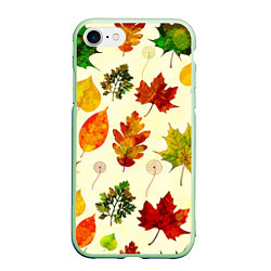 Чехол iPhone 7/8 матовый Осень цвета 3D-салатовый — фото 1