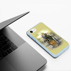 Чехол iPhone 7/8 матовый Имперская русь цвета 3D-голубой — фото 2