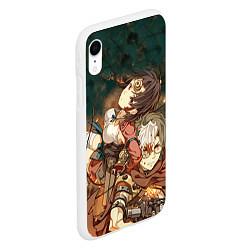Чехол iPhone XR матовый Воин крепости цвета 3D-белый — фото 2