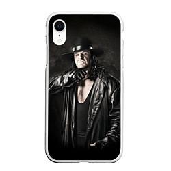 Чехол iPhone XR матовый Гробовщик 2 цвета 3D-белый — фото 1