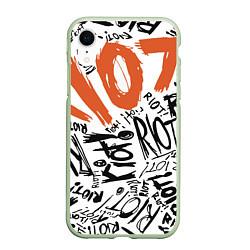 Чехол iPhone XR матовый Paramore: Riot цвета 3D-салатовый — фото 1