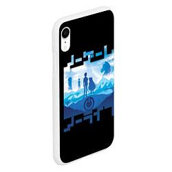 Чехол iPhone XR матовый No Game No Life цвета 3D-белый — фото 2