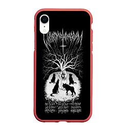 Чехол iPhone XR матовый Wolves in the Throne Room цвета 3D-красный — фото 1