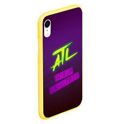 Чехол iPhone XR матовый ATL цвета 3D-желтый — фото 2