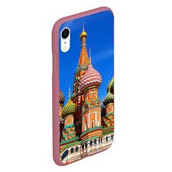 Чехол iPhone XR матовый Храм Василия Блаженного цвета 3D-малиновый — фото 2