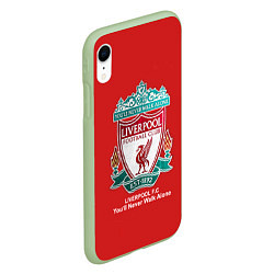 Чехол iPhone XR матовый Liverpool цвета 3D-салатовый — фото 2