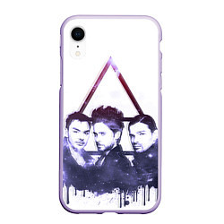 Чехол iPhone XR матовый 30 seconds to mars цвета 3D-светло-сиреневый — фото 1