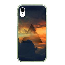 Чехол iPhone XR матовый 30 seconds to mars цвета 3D-салатовый — фото 1
