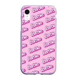 Чехол iPhone XR матовый Barbie Pattern цвета 3D-светло-сиреневый — фото 1
