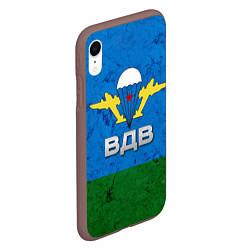 Чехол iPhone XR матовый Флаг ВДВ цвета 3D-коричневый — фото 2