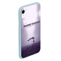 Чехол iPhone XR матовый Imagine Dragons: Silence цвета 3D-голубой — фото 2
