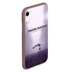 Чехол iPhone XR матовый Imagine Dragons: Silence цвета 3D-коричневый — фото 2