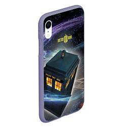 Чехол iPhone XR матовый Police Box цвета 3D-серый — фото 2
