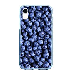 Чехол iPhone XR матовый Черника цвета 3D-голубой — фото 1