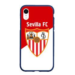 Чехол iPhone XR матовый Sevilla FC цвета 3D-тёмно-синий — фото 1