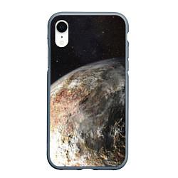 Чехол iPhone XR матовый Плутон цвета 3D-серый — фото 1