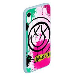 Чехол iPhone XR матовый Blink-182: Purple Smile цвета 3D-голубой — фото 2