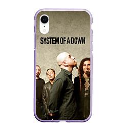 Чехол iPhone XR матовый System of a Down цвета 3D-светло-сиреневый — фото 1