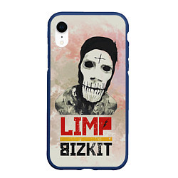 Чехол iPhone XR матовый Limp Bizkit цвета 3D-тёмно-синий — фото 1