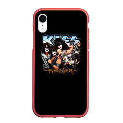 Чехол iPhone XR матовый Kiss Monster цвета 3D-красный — фото 1