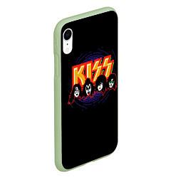 Чехол iPhone XR матовый KISS: Death Faces цвета 3D-салатовый — фото 2