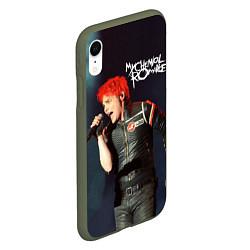 Чехол iPhone XR матовый Gerard Way цвета 3D-темно-зеленый — фото 2