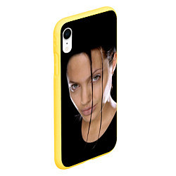 Чехол iPhone XR матовый Tomb Rider цвета 3D-желтый — фото 2