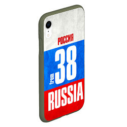 Чехол iPhone XR матовый Russia: from 38 цвета 3D-темно-зеленый — фото 2
