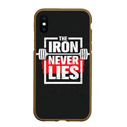 Чехол iPhone XS Max матовый The iron never lies цвета 3D-коричневый — фото 1
