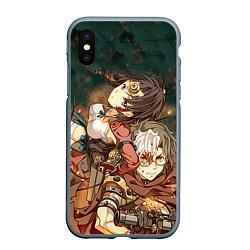 Чехол iPhone XS Max матовый Воин крепости цвета 3D-серый — фото 1