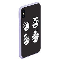 Чехол iPhone XS Max матовый KISS Mask цвета 3D-светло-сиреневый — фото 2