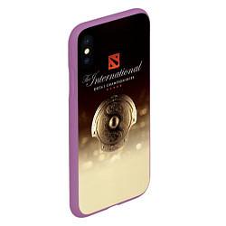Чехол iPhone XS Max матовый The International Championships цвета 3D-фиолетовый — фото 2