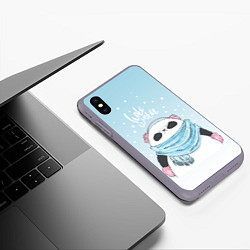 Чехол iPhone XS Max матовый Hate Winter цвета 3D-серый — фото 2