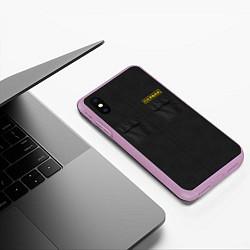 Чехол iPhone XS Max матовый Настоящий охраник цвета 3D-сиреневый — фото 2