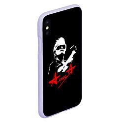 Чехол iPhone XS Max матовый АлисА цвета 3D-светло-сиреневый — фото 2
