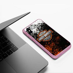 Чехол iPhone XS Max матовый HARLEY DAVIDSON цвета 3D-розовый — фото 2