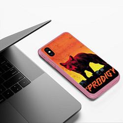 Чехол iPhone XS Max матовый The Prodigy: Red Fox цвета 3D-малиновый — фото 2