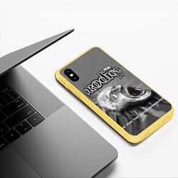 Чехол iPhone XS Max матовый The Prodigy: Madness цвета 3D-желтый — фото 2