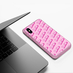 Чехол iPhone XS Max матовый Barbie Pattern цвета 3D-розовый — фото 2