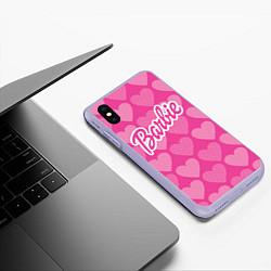 Чехол iPhone XS Max матовый Barbie цвета 3D-светло-сиреневый — фото 2