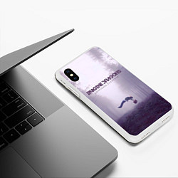 Чехол iPhone XS Max матовый Imagine Dragons: Silence цвета 3D-белый — фото 2