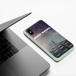 Чехол iPhone XS Max матовый Imagine Dragons: Night Visions цвета 3D-салатовый — фото 2